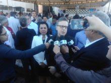 Superintende Rejane e o Secretário Balestreri falam à imprensa