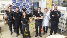Equipe da SPTC-GO em um dos estandes